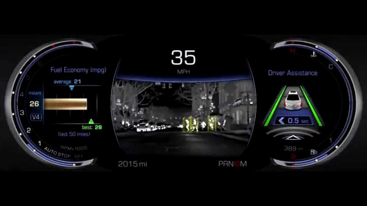 Cadillac CT6 night vision system