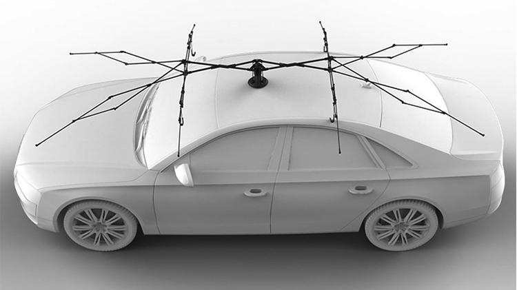 double windproof design lanmodo car umbrella