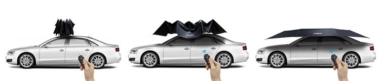 how to operate Lanmodo car umbrella