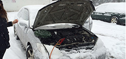 save your car from snow with good snow car cover