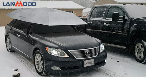 A New Innovative Car Cover for Snow in 2017 ——Lanmodo