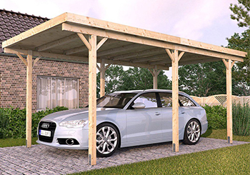 wooden car port