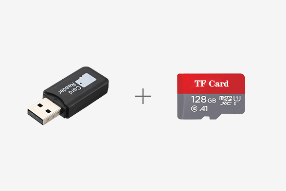 128G TF Card with Card Reader